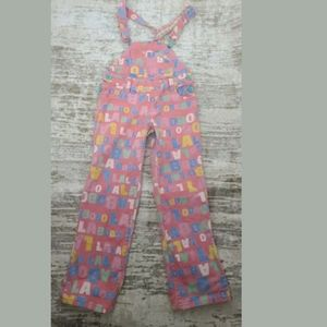 Lalabobo Womens ONE SIZE Pink Jean Denim Overalls